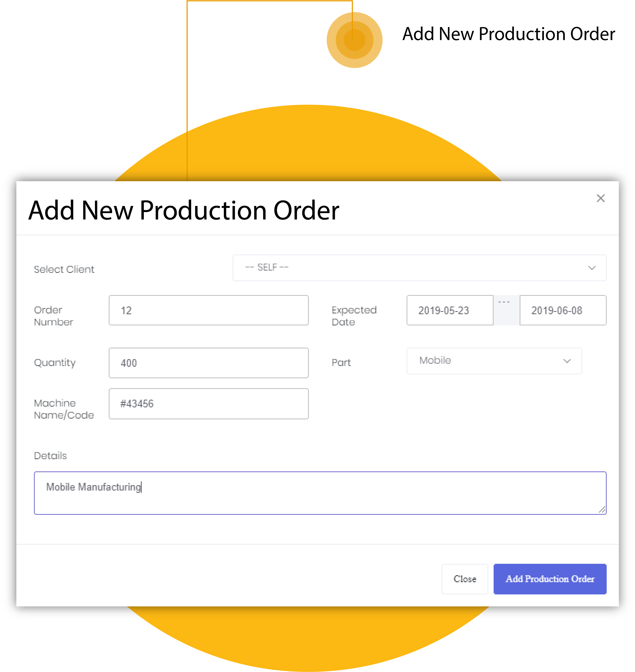 Add New Production Order